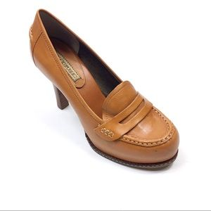 Banana Republic Leather Heeled Penny Loafters